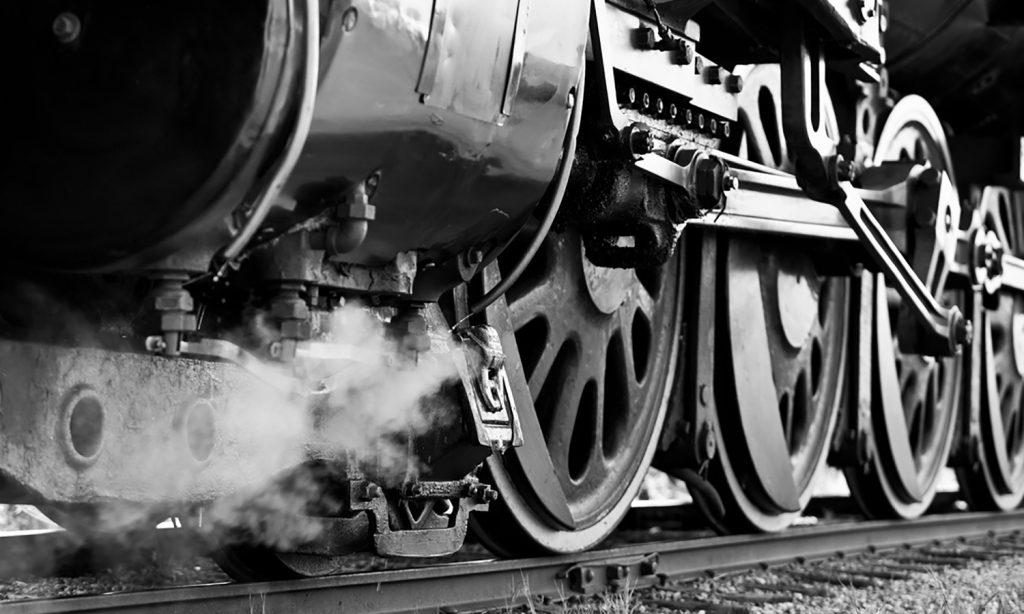 Ancien train à la création de la gare de Bressuire