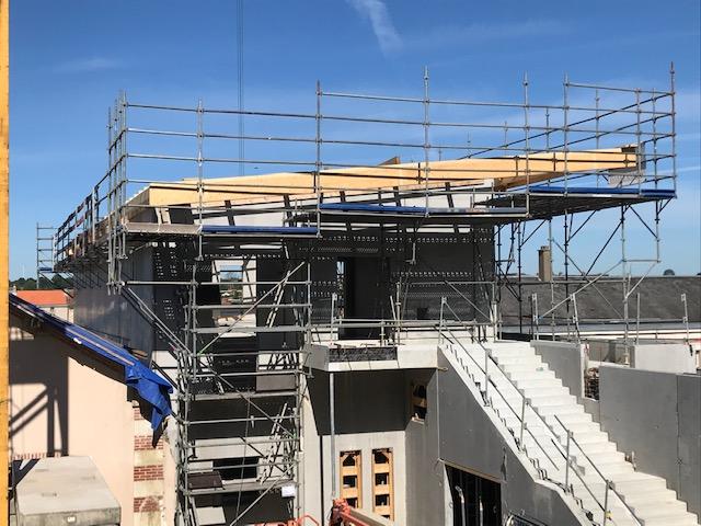 Vue de l'extension nord en cours de construction, partie la plus avancée par EGDC