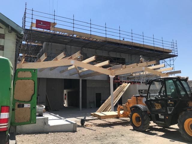 continuation du chantier de la gare de Bressuire
