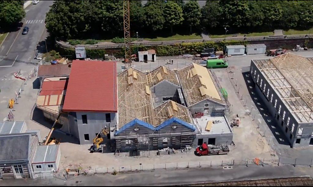 La chantier de la gare de Bressuire en pleine évolution