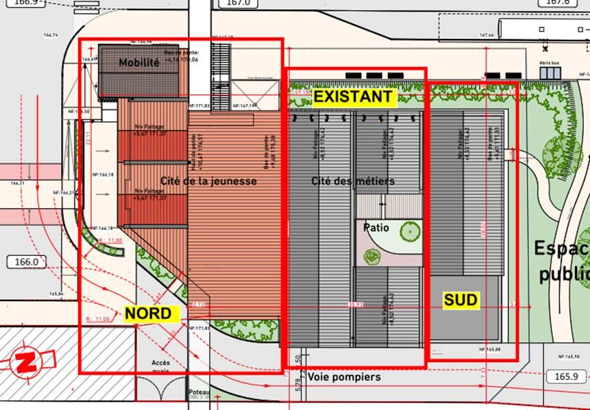 plan du chantier de la gare de Bressuire